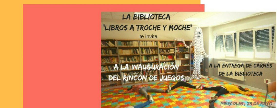 """Entrega de carnets en la biblioteca """"Libros a troche y moche"""""""