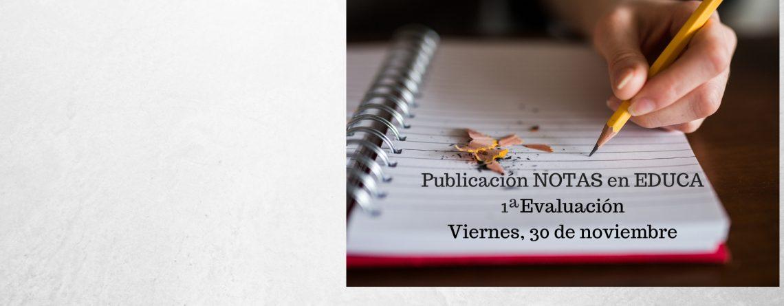 PUBLICACIÓN BOLETINES NOTAS 1ª EVALUACIÓN
