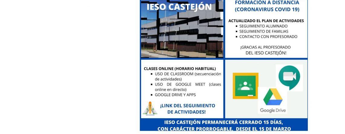FORMACIÓN A DISTANCIA IESO CASTEJÓN. SIGUE LEYENDO…