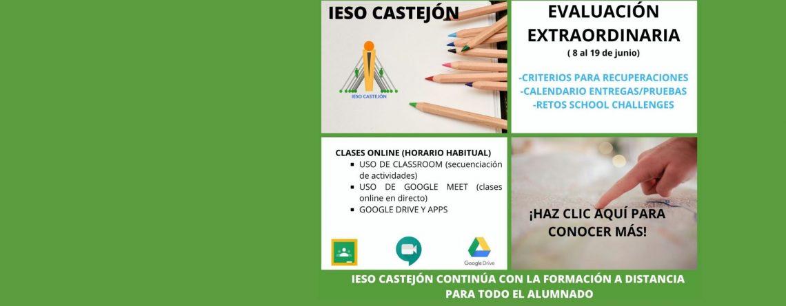 EVALUACIÓN EXTRAORDINARIA/RETOS SCHOOL CHALLENGES