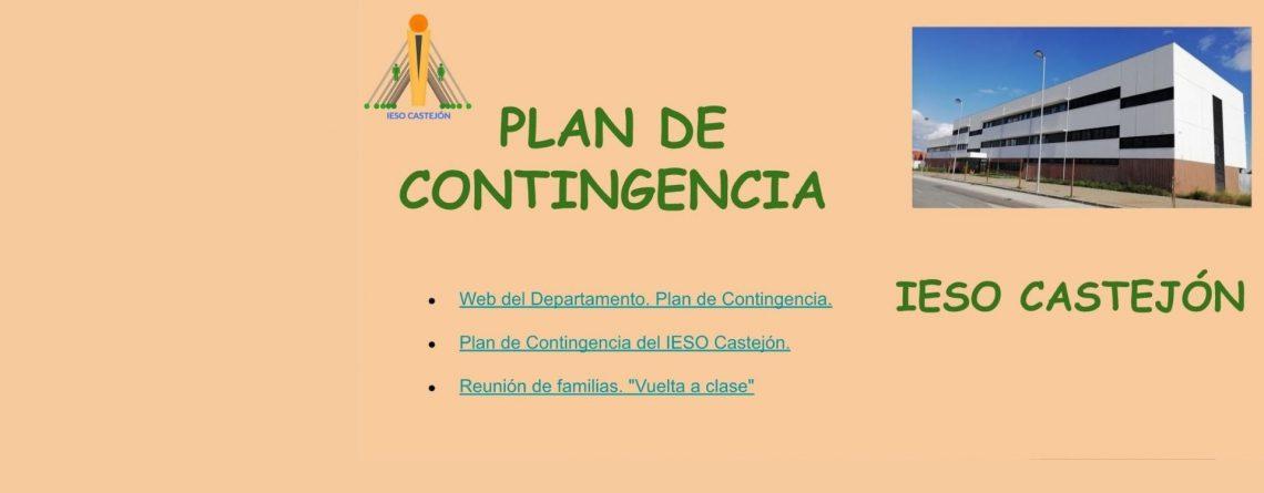 PLAN DE CONTINGENCIA. IESO CASTEJÓN