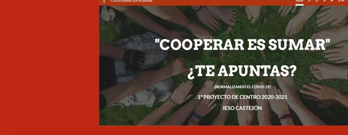 COOPERAR ES SUMAR: 1º PROYECTO DE CENTRO IESO CASTEJÓN.