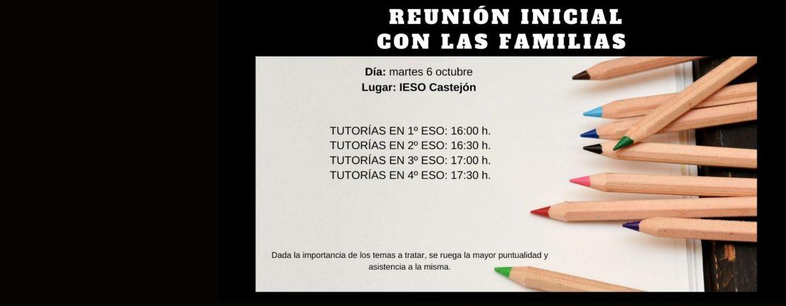 REUNIÓN CON FAMILIAS INICIO DE CURSO