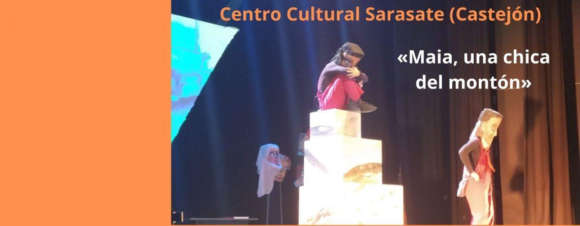 Teatro para el alumnado de 1º y 2º ESO: «Maia, una chica del montón». Centro Cultural Sarasate, Castejón.