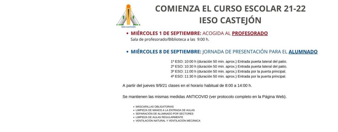 COMIENZO DE CURSO 21-22